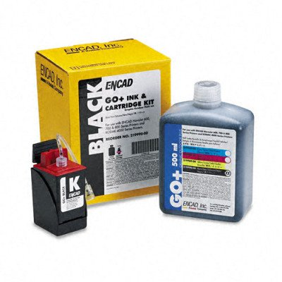 Kodak 21999000 Ink & Cart Kit, 1 Botl of Ink/1 Ink Ctg/1 Service Pack, Black