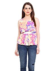 Floral Top With Stretch Waist Band Medium