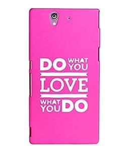 KolorEdge Printed Back Cover For Sony Xperia Z - Pink (2224-Ke15087XperiaZPink3D)