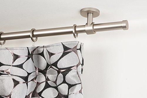 Bastone per tende Ø 20 mm, L. 200 cm. in acciaio satinato – completo
