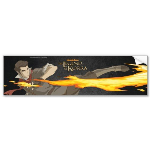 Legend of Korra: Mako Bending Locker Sticker