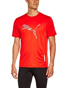 Puma Faas Prog 1Up T-Shirt homme Rouge FR : 48/50 (Taille Fabricant : M)