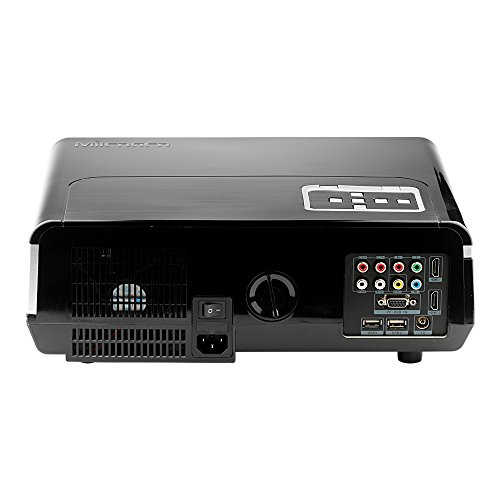 Fastfox Hd Projector Full Color 720p 3000 Lumens Analog Tv: Mileagea HD Projector Full Color 720P 3000 Lumens Digital