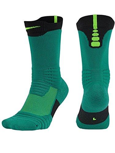 Nike U NK ELT Versa Crew - Calzini da uomo, UOMO, U NK ELT Versa Crew, Verde (Rio Teal / Midnight Turq / Lt Green Spark), M