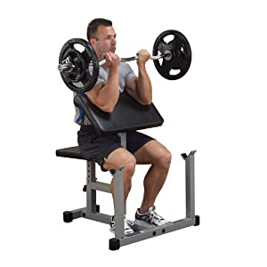 Powerline Preacher Curl Bench Sports Outdoors
