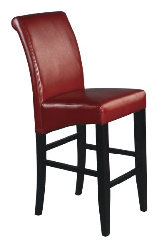 Metro 30 in. Parsons Barstool Crimson Red