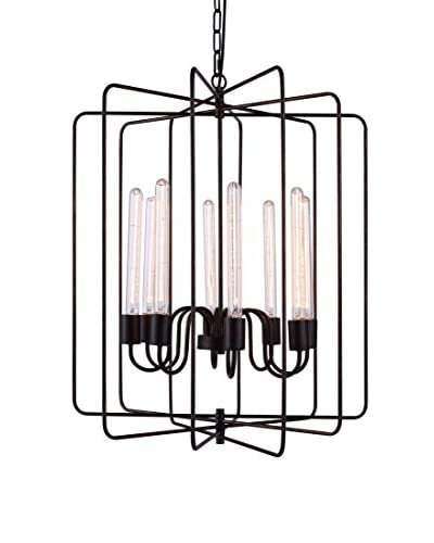 Urban Lights Lewis 8-Light Pendant Lamp, Dark Bronze
