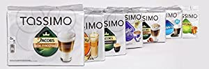 Buy MEGA VALUE Tassimo Assortment Pack Containing 40 Factory Sealed Coffee / Tea / Chocolate Drinks Pods by Tassimo