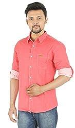 Spykar Red Formal Shirt (Size:xL)