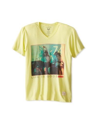 Kinetix Men's Pima Life Is Good V-Neck T-Shirt
