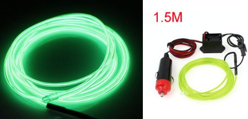 1.5M EL Fil Neon Vert Lime Brillantes Lampe Voiture Compresseur