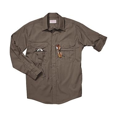 Filson Mens Featherweight Cloth Fly Fishing Shirt (Long Sleeve)