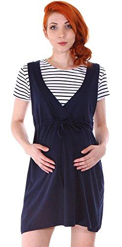 Simplicity Women's Summer Short Sleeve Maternity Dress, Deep Navy