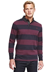 Blue Harbour Block Striped Rugby Shirt