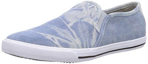 KangaROOS KangaVulcT 2078, Low-Top Sneaker unisex bambino, Blu (Blau (ice blue/white 410)), 38