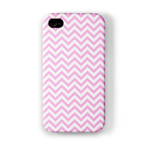 Baby Pink Chevron Pattern Full Wrap High Quality 3D Printed Case, Snap-On Protective Hard Back Cover For Apple® Iphone 4 / 4S By Ultracases