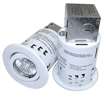 "3"" Recessed Light Kit with Swivel Trim And 50 Watt Bulbs"