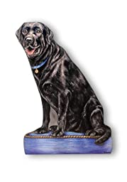The Stupell Home Decor Collection Black Lab Decorative Dog Door Stop
