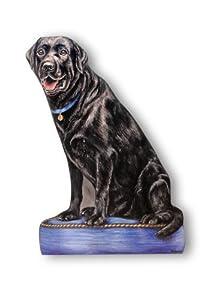 Stupell Home Black Lab Decorative Dog Door Stop
