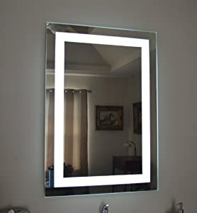 wall mounted lighted vanity mirror led mam82840 commercial grade. Black Bedroom Furniture Sets. Home Design Ideas