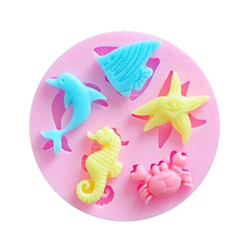 moule-patisserie-silicone-3d-animaux-marins-dauphin-poisson-etoile-crabe-hippocampe