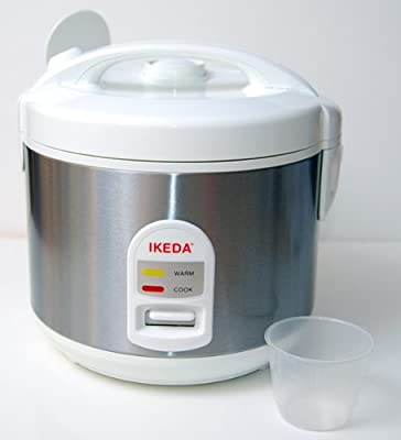 Electric, Stainless Steel, Rice Cooker,1.6L 6.5 cups Automatic Rice Cooker/ Warmer, by Ikeda