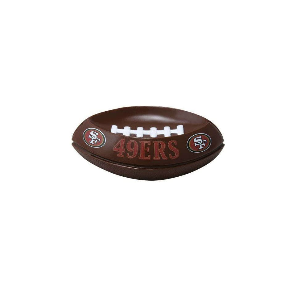 Pack of 2 NFL San Francisco 49ers Football Shaped Soap Dishes 6.5