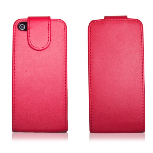 Apple New Iphone5 Premium Pu Leather Magnetic Flip Protective Case Red