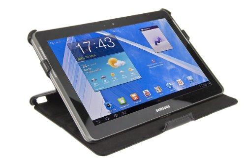 Boenso Design Original UltraSlim Case V2 Samsung Galaxy Tab 2 10.1 Leder/Tasche/Case/Hülle/Schützhülle - Exclusive Tasche mit Stand- und Präsentationsfunktion für Samsung Galaxy Tab 2 10.1 (P5100/5110) in Schwarz