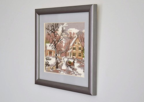 "Cross Stitched Picture ""Winter Landscape"""
