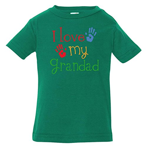 Inktastic Baby Boys' Grandad Grandkids Handprints Baby T-Shirt 6 Months Kelly Green
