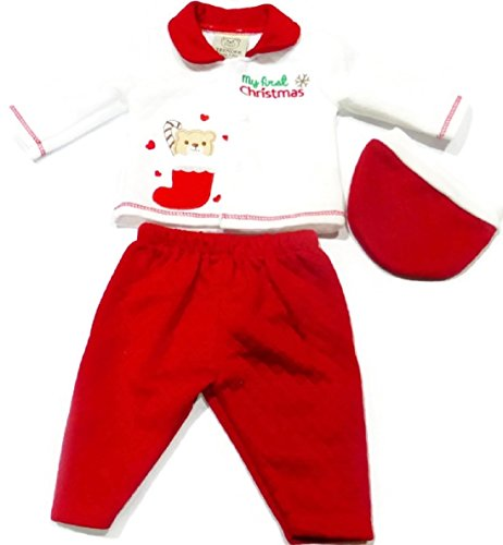 Bear in Stocking Christmas Suit with Button Fastening for Preemies 3-5 Lb