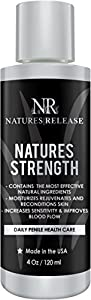 Natures Release Natures Strength 4.0 Oz - Natural Penile Health Cream - Best for dry, red, cracked or peeling penile skin and Chafing Relief - Increases penile sensitivity