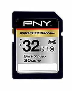 PNY 32 GB Flash Memory Card (P-SDHC32G10-AZ)