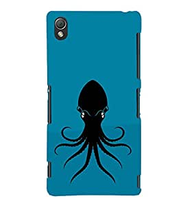 Octopus Design 3D Hard Polycarbonate Designer Back Case Cover for Sony Xperia Z3 :: Sony Xperia Z3 Dual :: Sony Xperia Z3 D6633