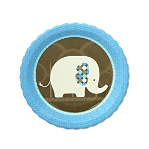 baby elephant dessert plates 8 qty pack baby shower tableware