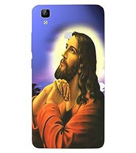 ColourCraft GOD Jesus Design Back Case Cover for VIVO V3 MAX