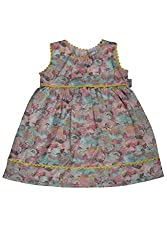 WOWMOM AOP MAGICAL FOREST SLV FROCK_MINT GREEN