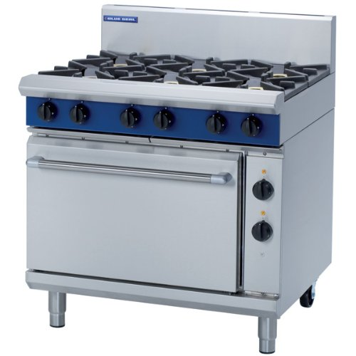 Blue Seal 6 Burner with Electric Oven Range - GE506D - 900(w)812(d)915(h)mm - Pack Size: Single
