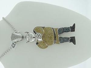 10k Gold / White - Designer Men's Shrek Cartoon Charm/Pendant - 5.00cttw Diamonds & 32 Grams - SDP-1571CBW