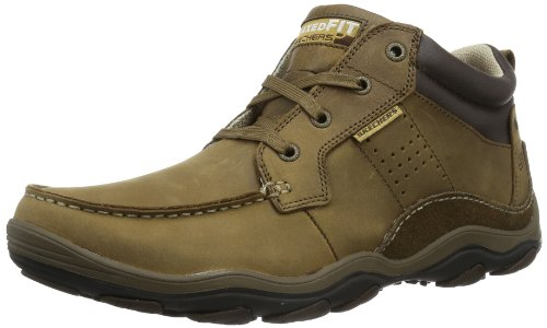 Skechers USA Men's Relaxed Fit Memory Foam Bolland Taber Ankle Boot