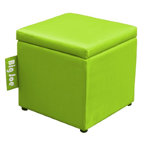 Big Joe Square Storage Ottoman, 15-Inch, Spicy Lime