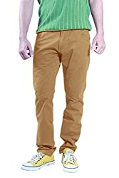 Uber Urban 100% Cotton Regular Fit Sammys Trouser For Mens Green