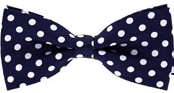 Tok Tok Designs® Handmade Men Bow Ties - B124 (Navy Blue)