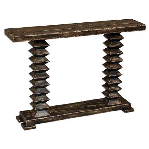 Distressed Wood Ridge 48W Mango Wood Console Table 25599