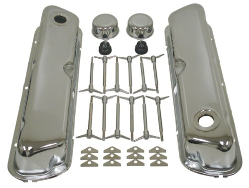 1962-85 Ford Small Block 260-289-302-351W Chrome Steel Engine Dress Up Kit - Smooth