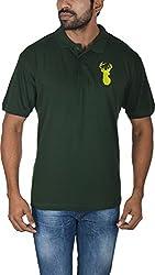 Le Beau Classics Men's Cotton Polo T-Shirts GR_004_ Forest Green_M