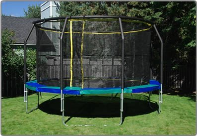 Trampoline-14-foot-Medalist-with-enclosure