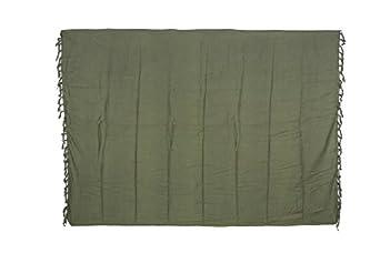 Sarong Pareo Beach Wear Cover Towel Skirt Wrap Scarf Plain OLIVE KHAKI PO