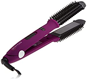InStyler Ionic Styler Pro Ceramic Ionic Hot Brush and Flat Iron, Purple
